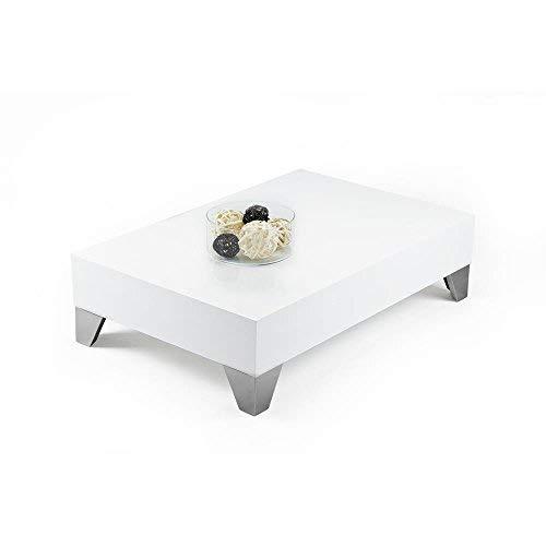 Mobili Fiver, Evolution 90 Table de Salon, Mélaminé, Blanc Laqué Brillant, 90 x 90 x 24 cm