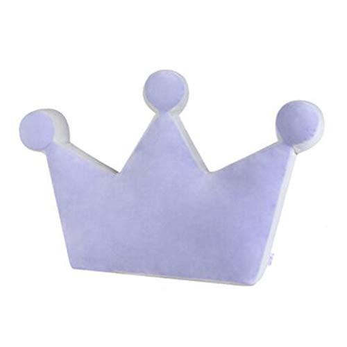 Chinashow Krone Form Plüsch-Kissen-weicher Plüsch-Dekokissen-Kissen-Plüsch-Spielzeug Lila (Lila Dekorative Bett Kissen)