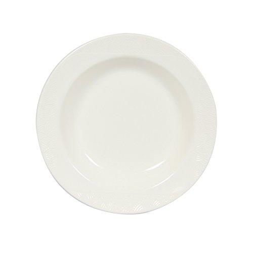 Novastyl 8011899.0 Imposture Lot DE 6 Assiettes Creuse Faïence Blanc 22,5 x 22,5 x 4 cm