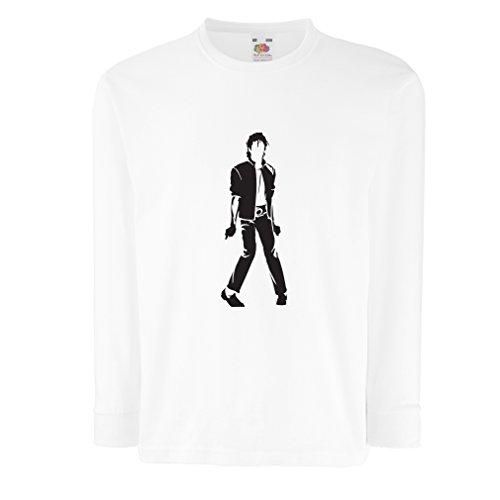 n4123d-t-shirt-pour-enfants-avec-des-manches-longues-i-love-m-j-9-11-years-blanc-noir
