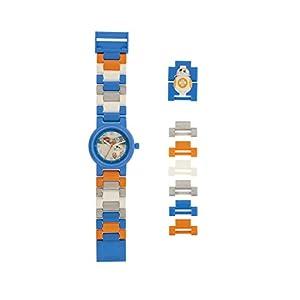 Armbanduhr Lego Star Wars – BB-8, inklusive 12 zusätzlichen Armbandgliedern, Lego Minifigur im Armband integriert, analoges Ziffernblatt, kratzfestes Acrylglas