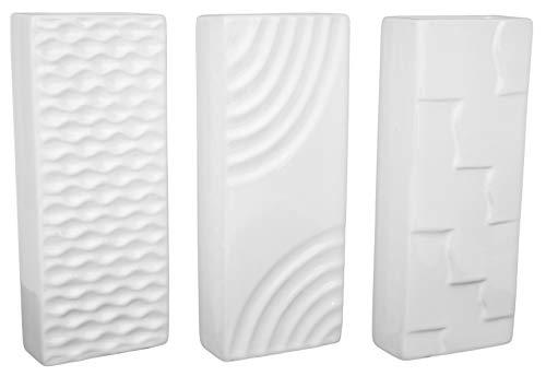 Hochwertige Luftbefeuchter 6-teiliges Set - für Heizung aus Keramik - glänzend glasiert - Luftreiniger Wasserverdunster Verdamper verdunster Klima in weiß