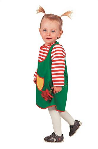 Party Goer Kostüm - Göre Kostüm Babykostüme Mädchen Karneval Fasching Kleid Grün Rot Weiß