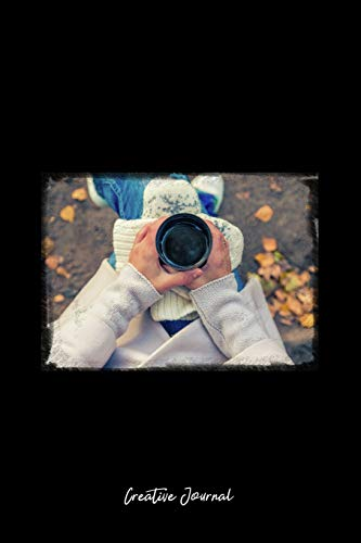 Creative Journal: Dot Grid Journal - Tea Cup Mug Hands Fall Autumn Nature - black Dotted Diary, Planner, Gratitude, Writing, Travel, Goal, Bullet Notebook - 6x9 120 pages Mug Fall