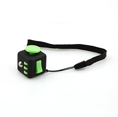 HENGSONG Zappeln Cube Würfel entlastet Stress und Angst für Kinder und Erwachsene Spielzeug Geschenke (Grünschwarz)