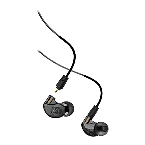 Mee Audio M6Pro 2nd Generation universal-fit Geräuschisolierende Musiker in-Ear-Monitore mit abnehmbarem Kabel Smoke