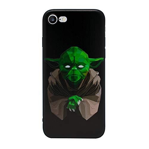 iPhone 5/5s 3D Star Wars Étui en Silicone/Coque de Gel pour Apple iPhone 5s 5 Se/Protecteur D'écran et Chiffon/iCHOOSE/Yoda