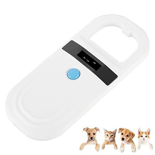 Tangxi Animal Chip ID-Scanner, USB ID Reader zum Erneuten Aufladen Mini-Mikrochip-Tag-Scanner 128 Stück Tag Informationsspeicher mit OLED-Display für die Tierverfolgung