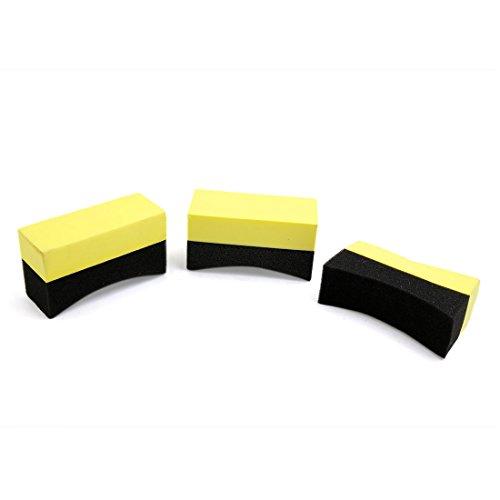 U Form Reifen Wachsen Polieren Schwamm Pads Reifen Sauber Pinsel für Auto DE de ()