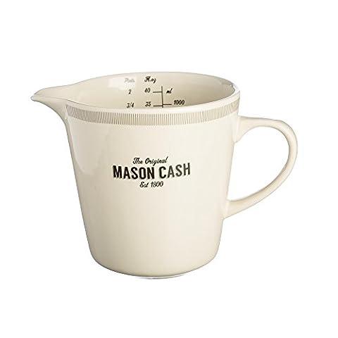 Mason Cash Baker Lane Verre gradué, gris/multicolore, 16x 15x 21cm 1litre