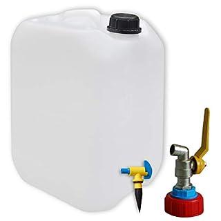 AST/SIEPE 10 Liter Kanister mit Metallhahn und Entlüftungshahn (DIN 45)
