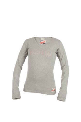 Russell Athletic Damen Pullover Deep V-Neck, Grau, L, A3-106-2-150 - Athletic Track-t-shirt