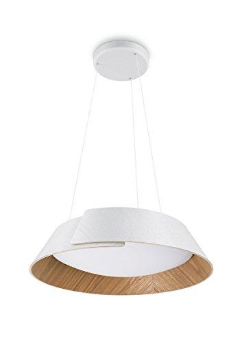 Philips InStyle Nonagon - Lámpara de techo colgante, LED integrado, consume 10 W, luz blanca cálida, regulable, color blanco