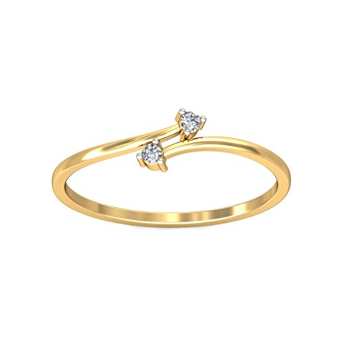 Belle Diamante 18K Gold and Diamond Ring  available at amazon for Rs.4489