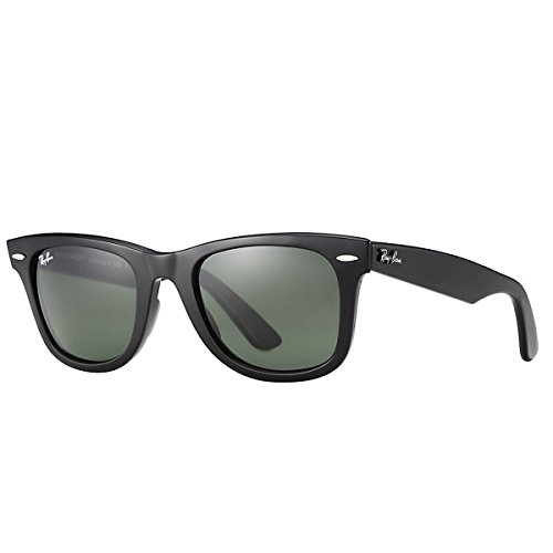 Ray-Ban Mirrored Wayfarer unisex Sunglasses (RB2140 901|54 millimeters|Green)
