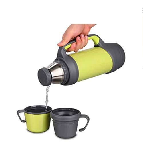 Feetbilbli Vakuumflasche mit großem Fassungsvermögen 1,2 l Doppel-Edelstahl-Wasserkocher, hohe Temperaturbeständigkeit, Lange Isolierungseffekt, tragbares Design, einfach und langlebig, Elite-Produkt (Elite Wasserkocher)