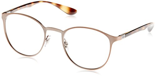 Ray-Ban Unisex-Erwachsene Brillengestell 0rx 6355 2732 50, Braun (Brushed Light Brown)