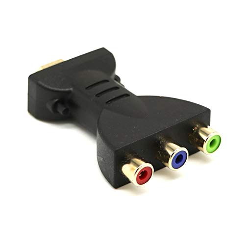 Rgb-video-audio (HDMI zu 3 RGB RCA Video Audio Adapter AV Komponenten Konverter Unterstützt 1080P Video Audio Konverter Adapter für DVD PSP (Farbe: Schwarz))