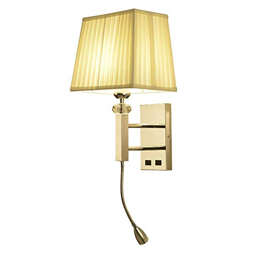 Moderno LED Apliques de Pared 3W Ajustable Luz de Lectura TrapezoidalTela Sombra...