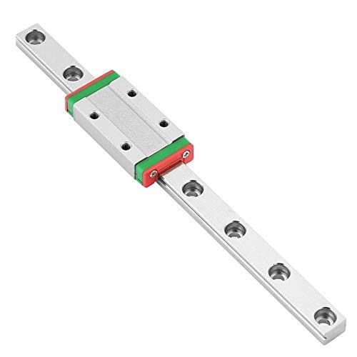 Miniatur Linearschiene Führungsschiene, LML9H 150mm Mini Linear Rail Guide, 9mm Breite Linear Schiebetür Gide mit ein Erweiterungs Schiebeblock,Anti Rost und Hohe Präzision (9mm-erweiterung)