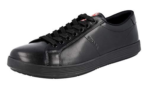 Prada 4E3256 Herren Sneaker aus Leder, Schwarz (schwarz), 42 EU