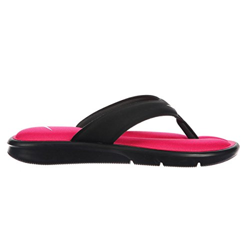 Nike Womens Ultra Comfort Thong Black Pink Synthetic Sandals 38 EU