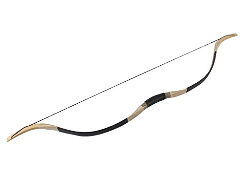 Junze® Traditioneller China Langbogen 40~60 lbs Recurve Bogen Bogenschießen (40 lbs)