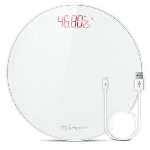 Elektronische Gesundheit Skala (TKFY Gesunde Körperflos-Skala Intelligent Body Bathroom Skala Haushalts-Gesundheit Elektronische Skalen für Männer und Frauen BMI ist Gezeigt, direkt 183KG Weiß)