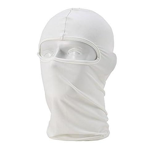 Unisex Balaclava - Sportausrüstung / Winddicht / Staubdicht Balaclava / Adjustable Riding Gesichtsmaske,Weiß