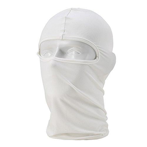 Bench Stock (Unisex Balaclava - Sportausrüstung / Winddicht / Staubdicht Balaclava / Adjustable Riding Gesichtsmaske,Weiß)