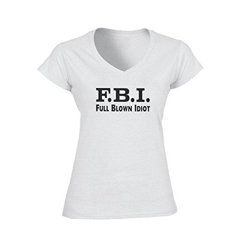 Mens Funny T Shirt Damen V-Neck T-Shirt Weiß