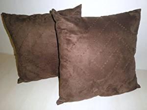 J&J home fashion Dekokissen mit Perlen, 46 x 46 cm, Braun, 2 Stück - 2 Stück Patio Kissen