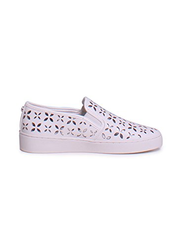 MICHAEL KORS CALZATURE SLIP ON DONNA 43T6KTFP 2L 898 OPT-SILVER PE17 Bianco