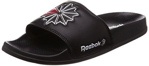 Reebok Unisex-Kinder Classic Slide Dusch- & Badeschuhe, Schwarz (Sc/Black/White/Excellent Red 000), 36 EU (Kinder Schuhe 5 Reebok)