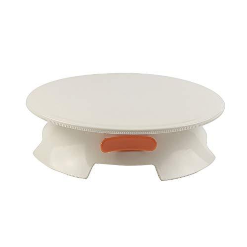 LaMei Yang Plateau de gâteau 12Inch, présentoir tournant en Plastique de gâteau, être équipé avec l'anneau instantanée, Conception de Taille, approprié à la décoration de gâteaux à la Maison