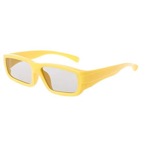 Vivianu 3D-Brille für Kinder, rund, polarisiert, passiv, für 3D Kino, Gelb, Orange gelb