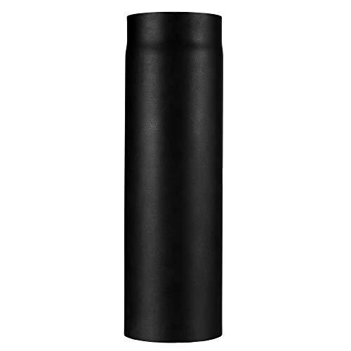 Ofenrohr Kaminrohr I matt schwarz I 500 mm lang I 150 mm Durchmesser l Abgasrohr Zubehör zum Tauke Rauchrohr Set I Profi Zubehör mit Senotherm Lack Beschichtung und Tauwechselbeständigkeits System