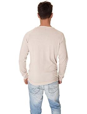 Maglia pullover uomo Premium Jack & Jones beige