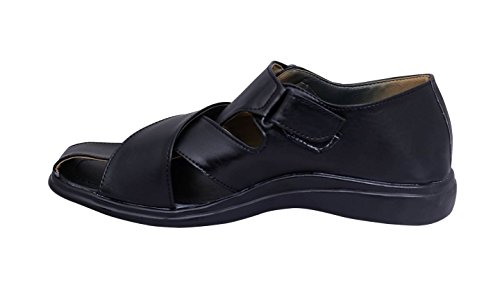 Usbs Traders Men'S Comfy Black Sandals Sn102-A50Bk (10 Ind)