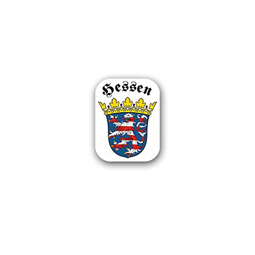 Copytec Aufkleber/Sticker -Hessen Landeswappen HE Bundesland Bundesrepublik Deutschland Deutsch Geschichte BRD Frankfurt am Main Wiesbaden Wappen Abzeichen 6x7cm #A3156