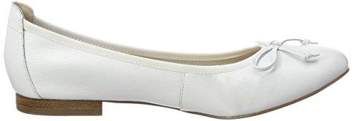 Caprice Damen 22102 Geschlossene Ballerinas Weiß (White Nappa 102)