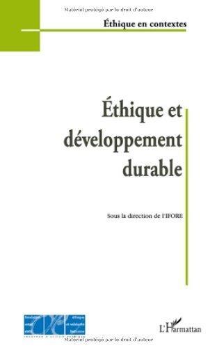 Ethique et dveloppement durable de IFORE (11 janvier 2010) Broch