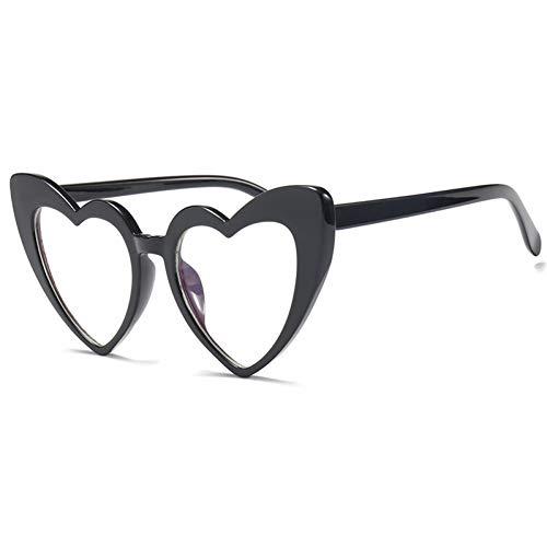 KCJKXC Frauen Sonnenbrille Männer Retro Herz Cat Eye Sonnenbrille Großhandel Klar Weibliche Brille Sonnenbrille Für Frau