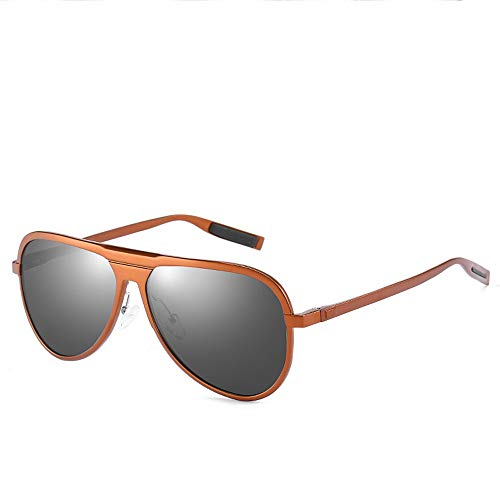 Easy Go Shopping Al-Mg-Legierung polarisierte treibende Sonnenbrille-Klassische Art- und Weisefrosch-Spiegel Eyewear UVschutz-volle Rahmen-Sonnenbrille der Männer Sonnenbrillen und Flacher Spiegel