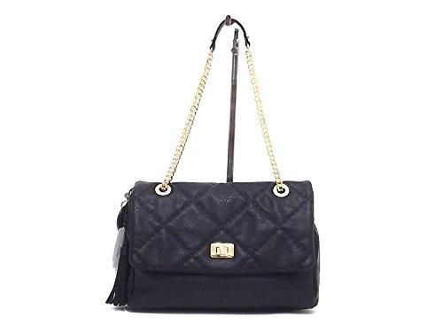 Blugirl borsa donna a spalla, 823001, ecopelle nera A6102