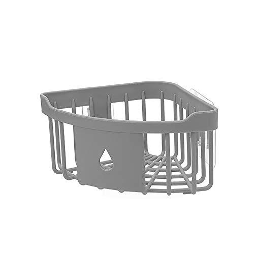 Fang fans - mensole angolari per bagno e cucina, triangolari, senza fori, in plastica deep gray