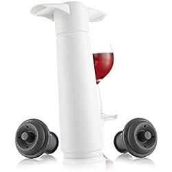 Vacu Vin 0981260 - Bomba de vacío con 2 tapones en estuche, color blanco