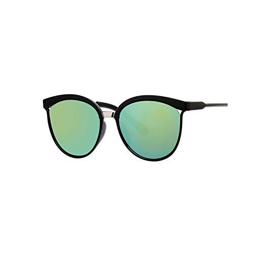 Vikimen Sportbrillen, Angeln Golfbrille,Black Cat Eye Sunglasses Women Brand Designer Retro Cateyes Glasses Female Frame Oval Eyewear UV400 Eye Ladies Glasses Gold