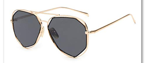 Sonnenbrille,Neue Big Frame Brille Männer Frauen Sonnenbrille Vintage Goggles Sommer Style Designer Sonnenbrille Gold Grau