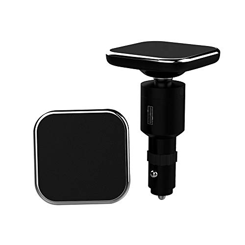 CONRAL 2 in 1 Wireless Car Phone Charger + Schnellladung QC 3.0, 360 ° drehbare Qi Ladestation Magnetische Autotelefonhalterung für iPhone 8, X, XS, XR, Samsung Galaxy Note 8, S9